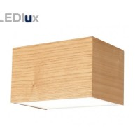-Nord-190465 LED 11W Up/Down Cube Wall in Teak