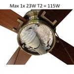 23W x 1 light bulb