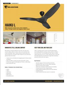 bigass fans haiku ceiling fans catalog