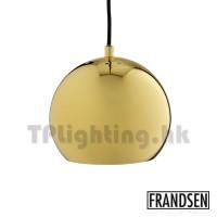 Frandsen Ball Glossy Brass Pendant Lamp