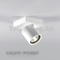 261602 FOCUS 1 Powdered White 6W LED Warm White Surface Spot Lamp Tilted