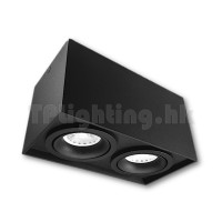GD5612BK LED Double Heads Black Surface Spot 01