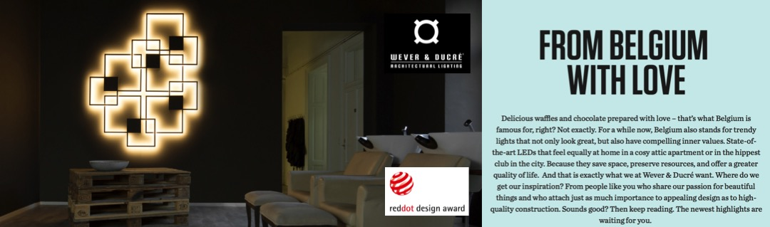 Wever Ducre VENN Wall Lamp Reddot Design Main Page Banner