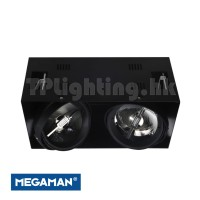 F30917RC Black Double Heads Recessed AR111 LED
