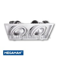 F56453RC White Square Double Heads AR111 LED Recessed Spot Light