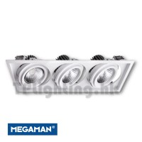F56553RC 3 Heads AR111 Rectangle LED Recessed Spot Lamp
