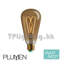 Whirly Willis 4W LED Gold Tint Filament ST64 E27 2000k Dimmable可調光