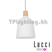 230307 Oakton 1 Light Large Pendant in WhiteAsh
