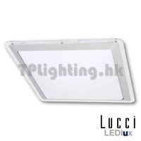 181017 LUSTRE Small Square 15W LED 3000k Dimmable Flush Mount