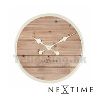 3134WI plank natural 50cm wooden wall clock nextime