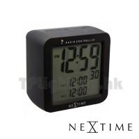 5201ZW square alarm clock matt black