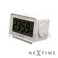 5202WI easy alarm table clock white