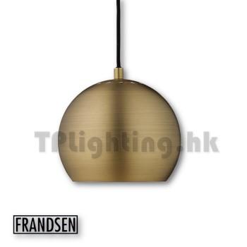 frandsen ball antiique brass pendant