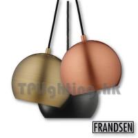 frandsen ball matt black brushed copper brass x2 pendant lamp