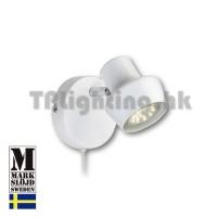 106083 markslojd urn white wall lamp