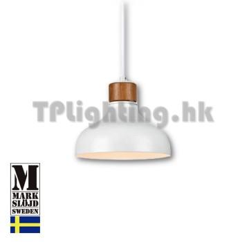 106657 markslojd may walnut white metal pendant lamp