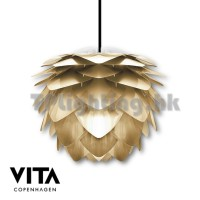 v02070 silvia brushed brass pendant lamp
