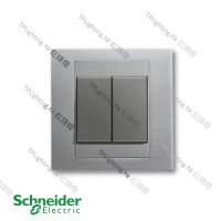 schneider unica 2 gang MGU5_242_IA ice aluminium