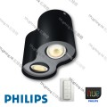 56332 pillar black philips hue led ceiling light