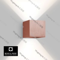 wever ducre box 1,0 wall lamp g9 pink copper