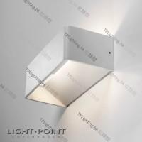 light-point mood 2 white 261065 led wall lamp