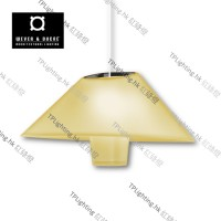 wever & ducre rever suspended amber yellow black chrome white cable