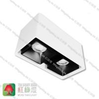 GD9402-WB Double Heads surface mount spot lamp GU10 x2