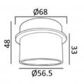 DL-S09-133-WG white gold recessed spot light rack