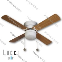 512106 lucci air white with teak ceiling fan 風扇燈