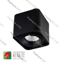 SDg-07004-BK black surface mount single spot