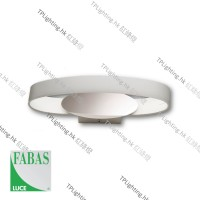 fabas luce gaby white ip44 led wall lamp