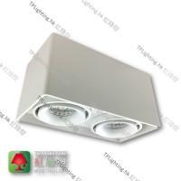 "GD9902-WH-MINI ""FASHION mini"" White Surface white-in Spotlight 盒仔燈 LED PAR16 GU10x2 Exclu."