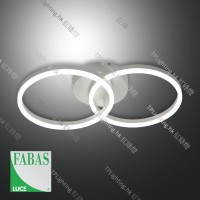 fabasluce giotto double circle led ceiling light 3508-22-102