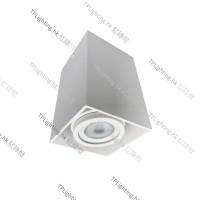 FL-879-sq white surface mount spot light 盒仔燈