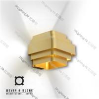 wever & ducre jjw 02 gold wall lighting