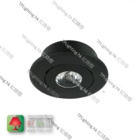 mt-100 black recessed spot light