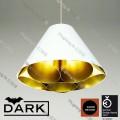 dark light lgtm-x01 white gold pendant lamp