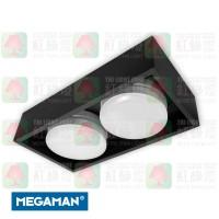 megaman del-ch-box2-gx53-bk-bk 盒仔燈
