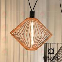 wever ducre wiro diamond 1.0 pendant lamp rust copper