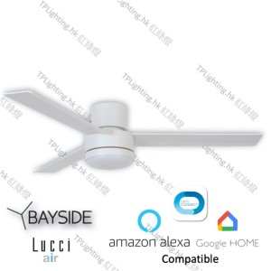 bayside lagoon ctc LED wh ceiling fan google home amazon alexa