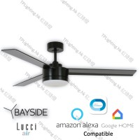 bayside lagoon led bk ceiling fan google home amazon alexa