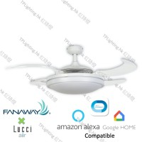 fanaway evo 2 wh BC ceiling fan google home amazon alexa