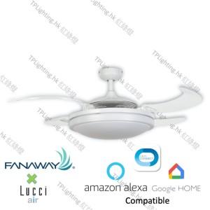 fanaway evo 2 wh BC ceiling fan google home amazon alexa