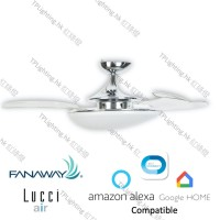 fanawy evo3 chrome futura mood bc ceiling fan google home amazon alexa
