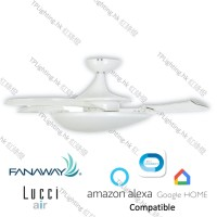 fanawy evo3 white futura mood bc ceiling fan google home amazon alexa