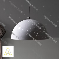 anagraphic starrylight lamp glossy white pendant designer light