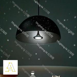 anagraphic starrylight lamp matt black pendant designer light