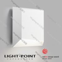 light point facet white outdoor wall lamp down