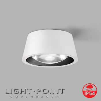light point optic out 1+ white black lamp ip54