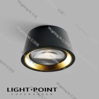 light point optic out black gold lamp